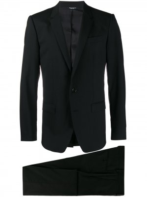 Костюм-двойка с однобортным блейзером Dolce & Gabbana. Цвет: черный