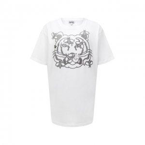 Хлопковая футболка Kenzo. Цвет: белый