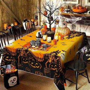 1шт Одноразовая скатерть на хэллоуин с рисунком SHEIN. Цвет: многоцветный