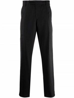 Прямые брюки с эластичным поясом Dunhill. Цвет: черный