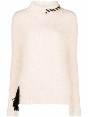 Джемпер с декоративной строчкой Alysi. Цвет: нейтральные цвета