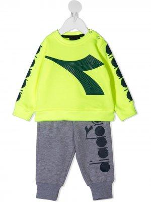 Спортивный костюм с логотипом Diadora Junior. Цвет: желтый