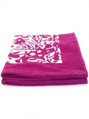Пляжное полотенце с принтом Eres. Цвет: фиолетовый