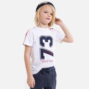 Комплект из футболки и спортивных La Redoute. Цвет: белый