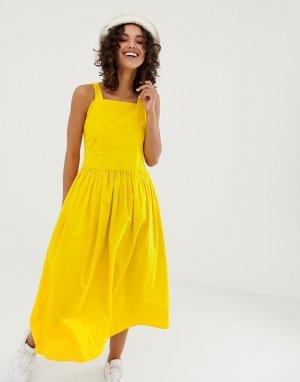 Летнее платье из органического хлопка -Желтый Kings Of Indigo