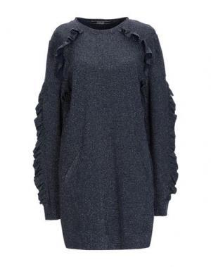 Короткое платье JANICE. Цвет: темно-синий