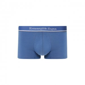 Хлопковые боксеры Ermenegildo Zegna. Цвет: синий