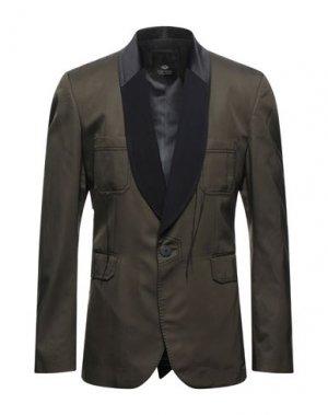 Пиджак TOM REBL. Цвет: зеленый-милитари