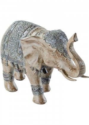 Фигурка слона bonprix. Цвет: серый