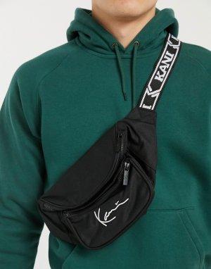 Черная сумка-кошелек на пояс с логотипом Signature-Черный Karl Kani