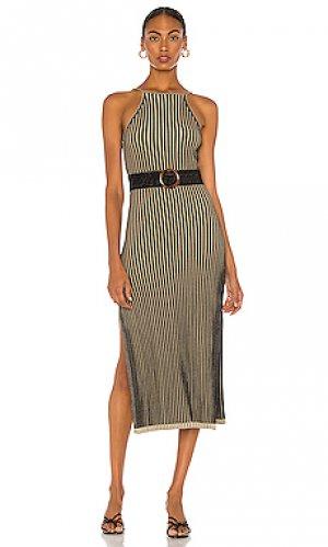 Платье lily NICHOLAS. Цвет: коричневый