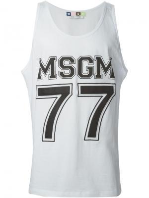Футболки и жилеты MSGM. Цвет: белый