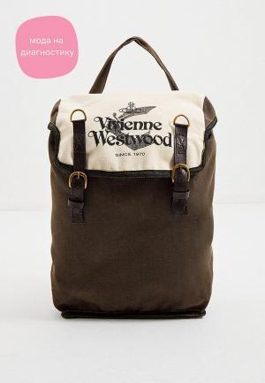 Рюкзак Vivienne Westwood Made in Kenia. Цвет: хаки