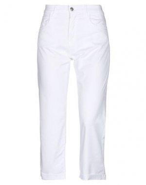 Джинсовые брюки-капри ROŸ ROGER'S. Цвет: белый