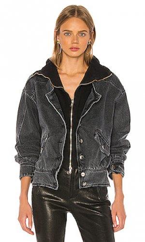 Джинсовая куртка jax retrofete. Цвет: черный