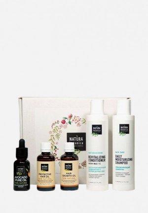 Набор для ухода за волосами Natura Botanica Активный рост и интенсивное восстановление, 600 г. Цвет: разноцветный