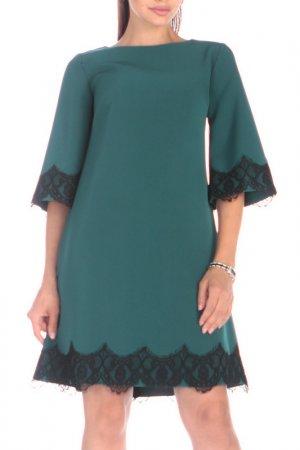 Платье REBECCA TATTI. Цвет: темно-изумрудный