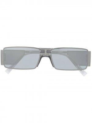 Солнцезащитные очки GV в прямоугольной оправе Givenchy Eyewear. Цвет: серый