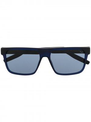 Солнцезащитные очки с затемненными линзами Puma. Цвет: синий