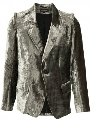 Бархатный пиджак строгого кроя Ann Demeulemeester. Цвет: зеленый