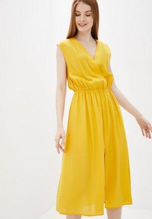 Платье Снежная Королева. Цвет: желтый