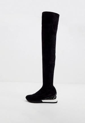 Ботфорты Le Silla. Цвет: черный