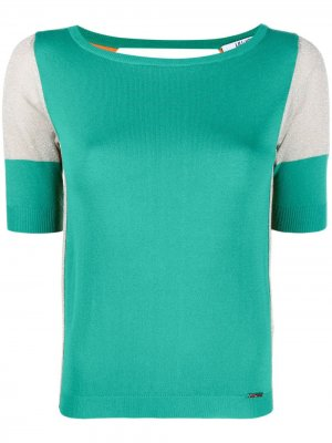 Contrast-panel T-shirt LIU JO. Цвет: зеленый