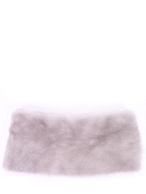 Воротник из меха норки Simonetta Ravizza. Цвет: серый