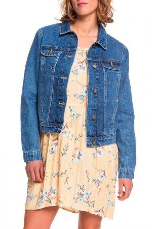 Куртка джинсовая TIGERS EYES Roxy. Цвет: синий