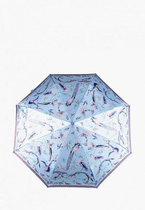Зонт складной Eleganzza. Цвет: голубой