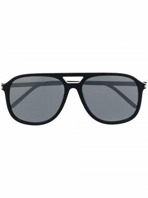 Солнцезащитные очки-авиаторы Saint Laurent Eyewear. Цвет: черный
