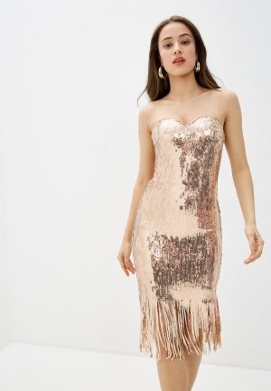 Платье Goddiva. Цвет: золотой
