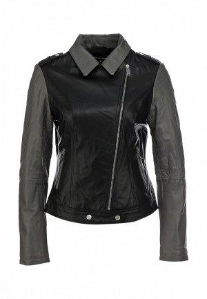 Куртка кожаная Silvian Heach SI386EWJW746. Цвет: черный