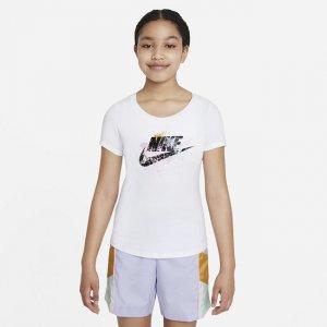 Футболка для девочек школьного возраста Sportswear - Белый Nike