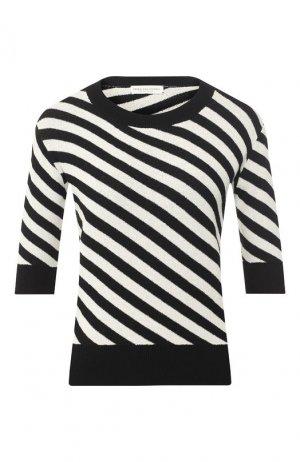 Пуловер в полоску Dries Van Noten. Цвет: черный