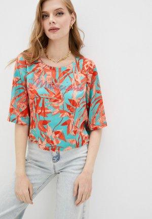 Блуза Marciano Los Angeles. Цвет: бирюзовый