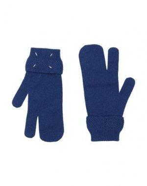 Перчатки MAISON MARGIELA. Цвет: темно-синий