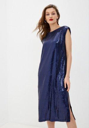 Платье Снежная Королева. Цвет: синий