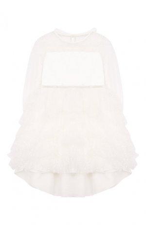 Платье с пышной юбкой Aletta. Цвет: белый