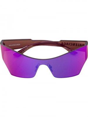 Солнцезащитные очки Mono Cat Balenciaga Eyewear. Цвет: разноцветный