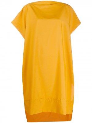 Платье с короткими рукавами Issey Miyake. Цвет: желтый