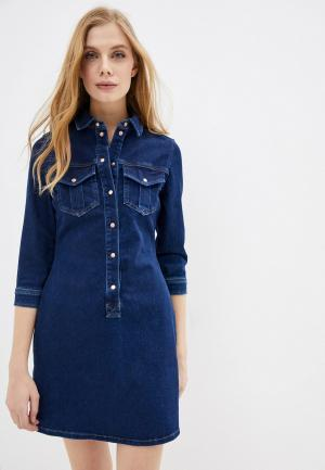 Платье джинсовое River Island. Цвет: синий