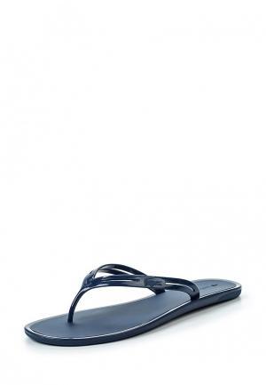 Сланцы Lacoste. Цвет: синий