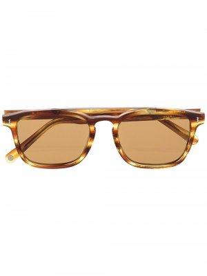 Солнцезащитные очки в квадратной оправе Eight & Bob. Цвет: коричневый