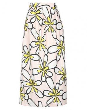 Длинная юбка ANDREA TURCHI. Цвет: светло-розовый