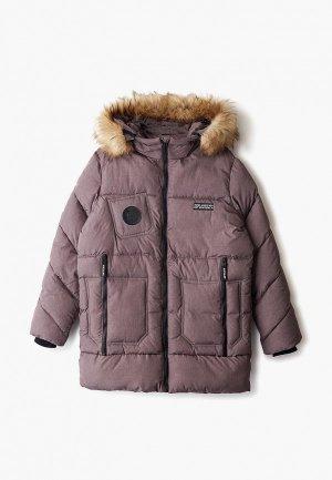 Куртка утепленная АксАрт. Цвет: коричневый