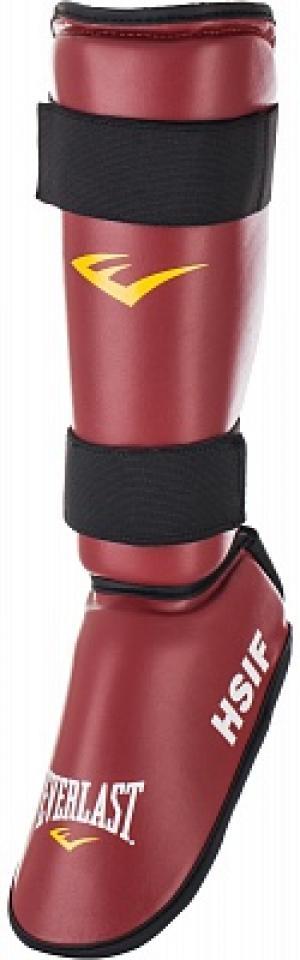 Защита голени и стопы Everlast. Цвет: красный