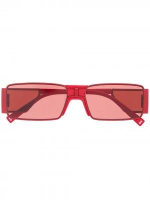 Солнцезащитные очки GV в прямоугольной оправе Givenchy Eyewear. Цвет: красный