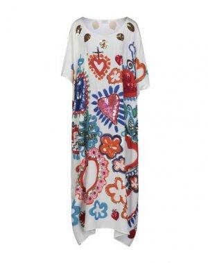 Длинное платье BONITA. Цвет: белый