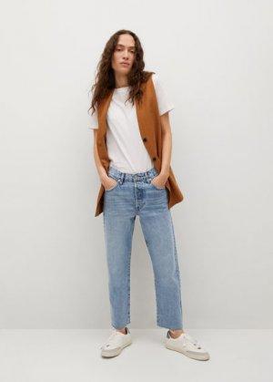 Прямые джинсы до щиколотки - Havana Mango. Цвет: синий средний